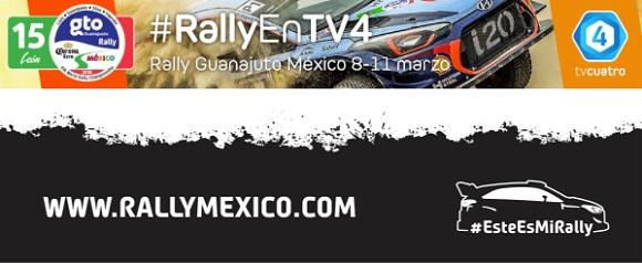 SE TRASMITIRÁ PARTE DEL RALLY GUANAJUATO WRC 2018 POR TV4