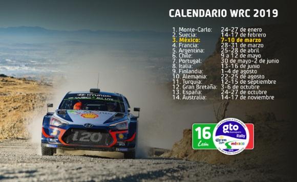 LA FIA ANUNCIA EL CALENDARIO 2019 DEL WRC