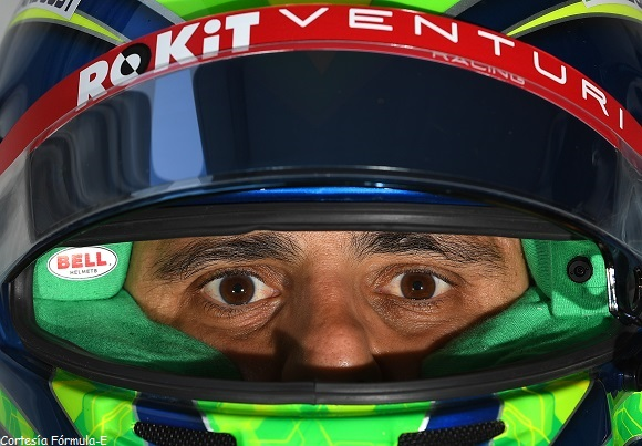 PARQUE O'HIGGINS CIRCUIT, CHILE - JANUARY 17: Felipe Massa (BRA), Venturi, with his drivers-eye-view helmet camera during the Santiago E-prix at Parque O'Higgins Circuit on January 17, 2020 in Parque O'Higgins Circuit, Chile. (Photo by Sam Bagnall / LAT Images)