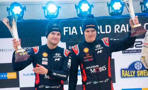 OTT TANAK CONSIGUE SU 1ª PODIO CON HYUNDAI EN SUECIA EN EL WRC