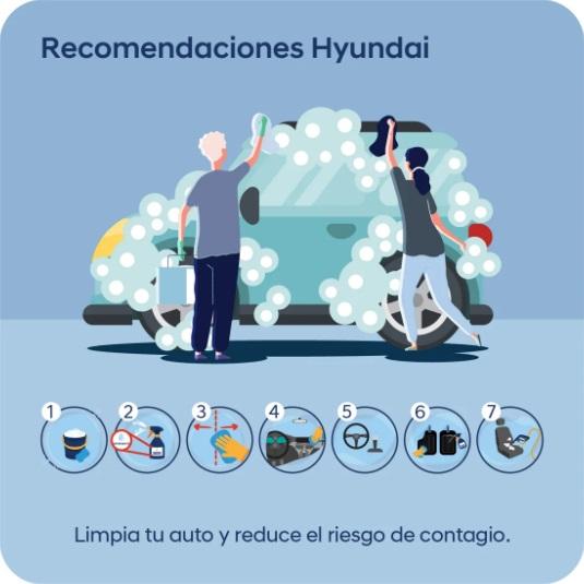 HYUNDAI RECOMIENDA SEGUIR ESTOS PASOS PARA LIMPIAR TÙ AUTO Y REDUCIR RIESGO DE CONTAGIO POR COVID19
