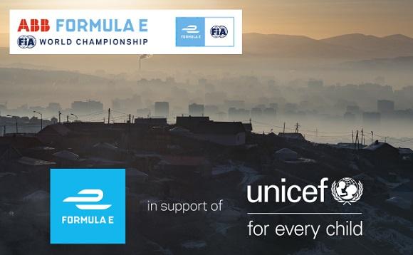 LA FÓRMULA E Y UNICEF LANZAN UNA ASOCIACIÓN DE VARIOS AÑOS PARA AYUDAR A LOS NIÑOS A TRAVÉS DEL NUEVO FONDO PARA UN MEDIO AMBIENTE SEGURO Y SALUDABLE DE UNICEF